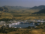 Pushkar and Sacred Lake, Center of Brahma Worship Since 1250 A.D Photographic Print by Martin Gray
