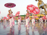 Dance Performance Held During the Annual Lantern Festival Photographic Print by  xPacifica