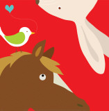 Farm Group: Rabbit and Horse Posters par Yuko Lau