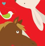 Farm Group: Rabbit and Horse Posters par Yuko Lau
