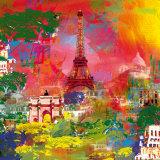 Paris Poster par Robert Holzach