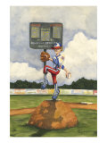 Strike Out Premium Giclee Print by Jay Throckmorton