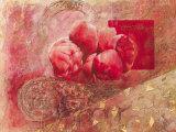 Fleurs d'Automne II Print by Yvonne Dulac
