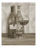 Black and White Wine Series I Affiches par Jennifer Goldberger