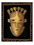 Máscara africana III Lámina giclée de primera calidad por Chariklia Zarris