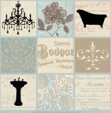 Bath Collage I Posters par Paula Scaletta