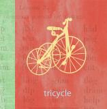 Vintage Toys Tricycle Affiches par Paula Scaletta