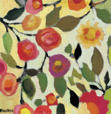 Floral Tile II Poster par Kim Parker
