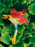 Tree Frog with Orchid Art by Gail Shumway