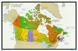 Map of Canada, Poster