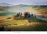 Belvedere Sunrise Tuscany ポスター : ジム・ニルセン