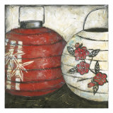 New Year Lanterns I Print by Chariklia Zarris