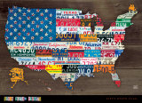 Fifty State Flag Poster by Aaron Foster