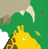 Safari Group: Giraffe and Rhino Affiches par Yuko Lau