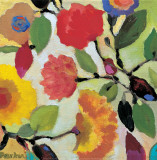 Floral Tile III Kunstdrucke von Kim Parker