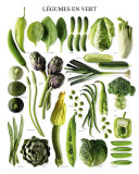 Green Vegetables Posters