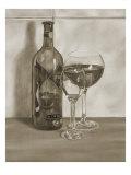 Black and White Wine Series II Reproduction procédé giclée Premium par Jennifer Goldberger