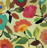 Floral Tile IV Print by Kim Parker