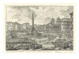 Piranesi View of Rome V natural Lámina giclée de primera calidad por Giovanni Battista Piranesi