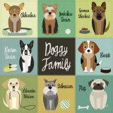 Doggy Family Poster van Jenn Ski