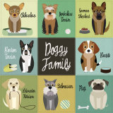Doggy Family Prints by Jenn Ski