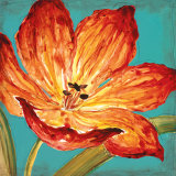 Flame Tulip I Posters by Karen Leibrick