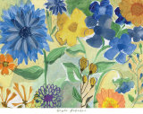 Blue Flowers Print by Gayle Kabaker