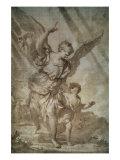 Gaurdian Angel Premium Giclee Print by Domenico Piola I