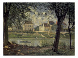 Louvecienne Premium Giclee Print by Alfred Sisley
