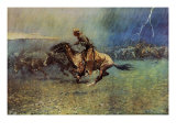 The Stampede Giclee Print by Frederic Sackrider Remington