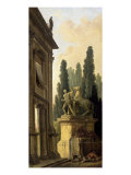 Minstrel Afternoon Giclee Print by Hubert Robert