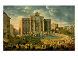 The Trevi Fountain In Rome 1753-56 Premium Giclee Print by Giovanni Paolo Pannini