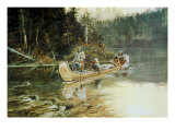 On the Flathead Giclee Print by Charles Marion Russell