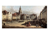 Dresden, the Old Market from Castle Street Premium Giclee Print by Bernardo Bellotto