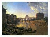 New Rome, Castel Sant'Angelo, 1823 Premium Giclee Print by Silvestr Fedosievich Shchedrin