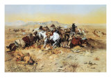 A Desperate Stand Premium Giclee Print by Charles Marion Russell