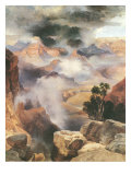 Mist in the Canyon Posters by Thomas Moran