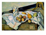 Still Life of Peaches and Pears Prints by Paul Cézanne