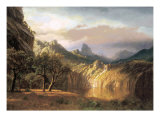 In the Valley Poster by Albert Bierstadt