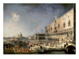 The Reception of the French Ambassador in Venice Premium Giclee Print by  Canaletto