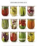 Vegetables in Jars Poster