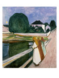 The Girls on the Pier, 1901 Reproduction procédé giclée par Edvard Munch