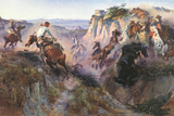 The Wild Horse Hunters Plakater af Charles Marion Russell
