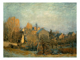 Little Town on the River Seine, 1872 Premium Giclee Print by Alfred Sisley