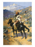 An Indian Trapper Premium Giclee Print by Frederic Sackrider Remington