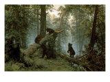 Forêt de pins le matin Reproduction giclée Premium par Ivan Ivanovitch Shishkin