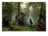 Morning in a Pine Forest Art by Ivan Ivanovitch Shishkin