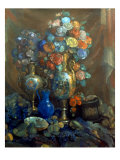 Vases, Flowers, Fruits, 1912 Giclee Print by Nikolai Sapunov