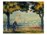 The Church of Santa Maria degli Angely near Assisi Art by Henri Edmond Cross