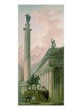 Roman Obelisk Posters par Hubert Robert